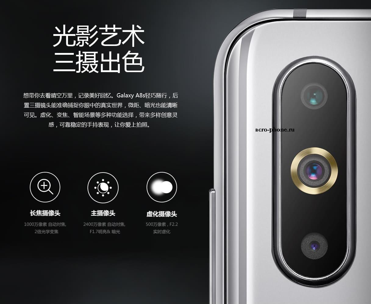 камера Galaxy A8s