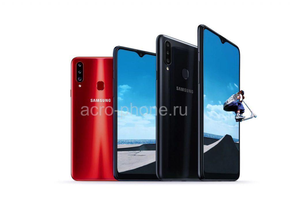 Официально анонсирована новинка Samsung Galaxy A20s с Infinity-V дисплеем