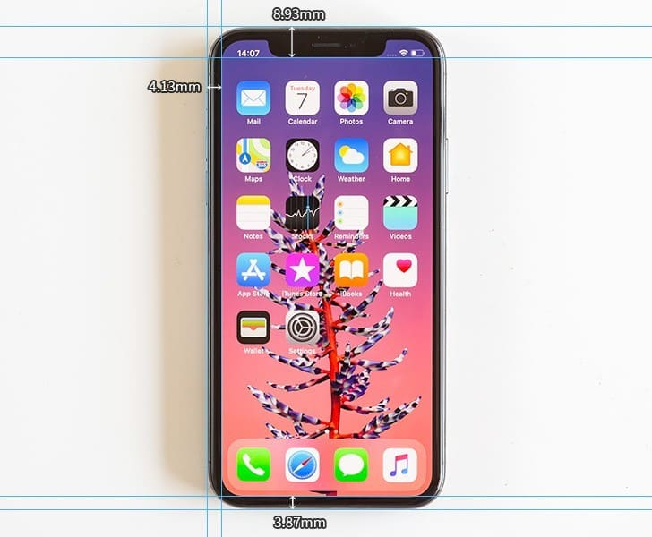 габариты айфон 10