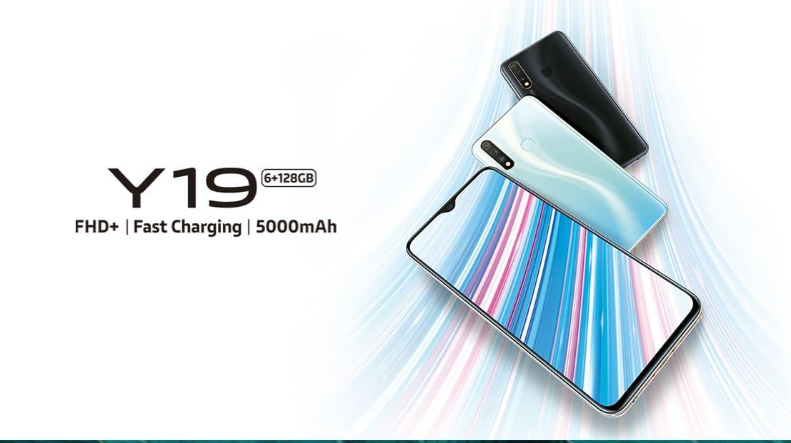 Представлен Vivo Y19 с 6 ГБ ОЗУ, 5000 мАч батареей и Funtouch OS 9.2
