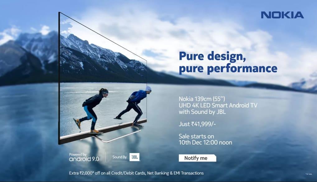 Nokia представила 55-дюймовый 4K Smart телевизор на Android с HDR и JBL